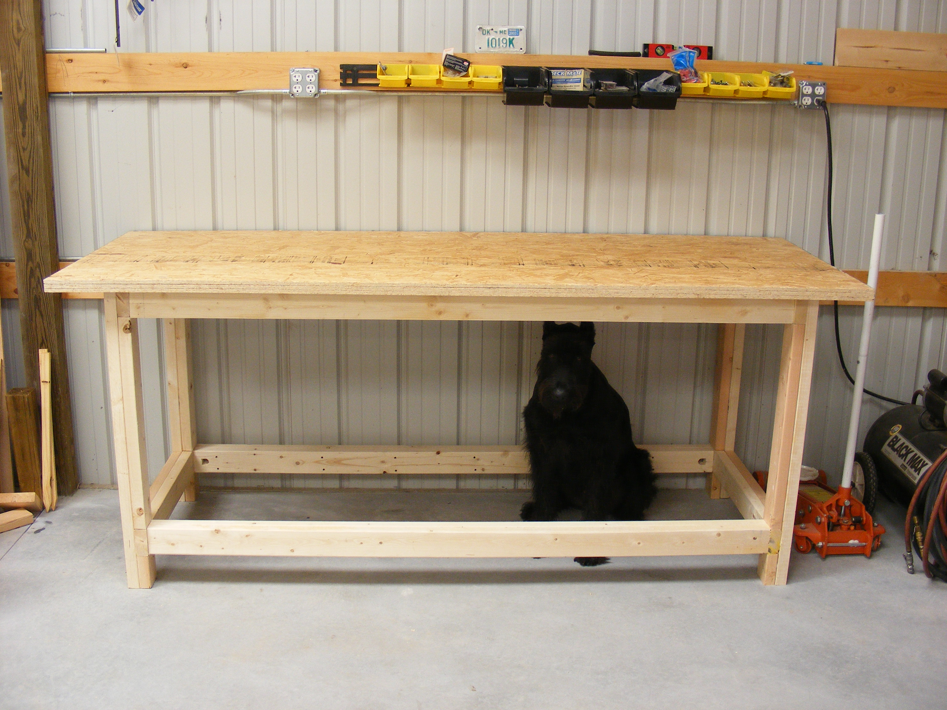 simple workbench plans 2x4