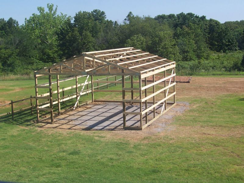 Pole Barn Slab Floor : Building a pole barn setting posts in concrete question